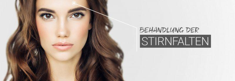 M1 Behandlung der Stirnfalten mit Muskelrelaxans