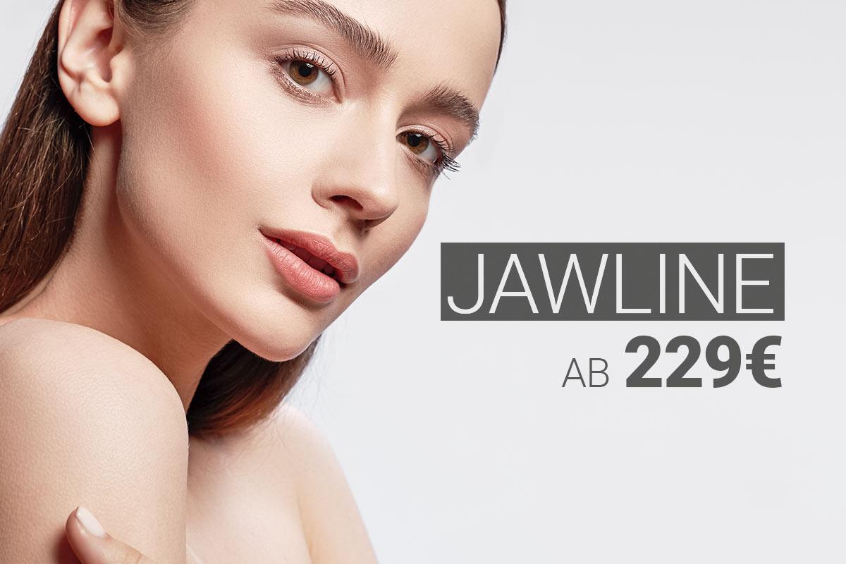 Behandlung der Jawline mit Hyaluron bei M1 Med Beauty Austria