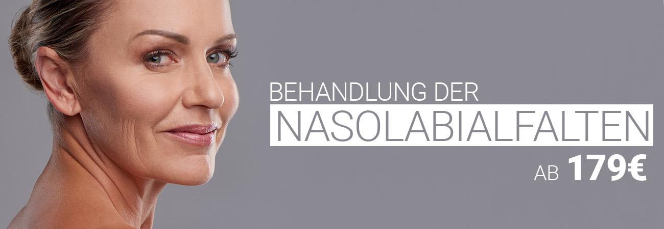 Nasolabialfaltenbehandlung mit Hyaluron bei M1 Med Beauty Austria