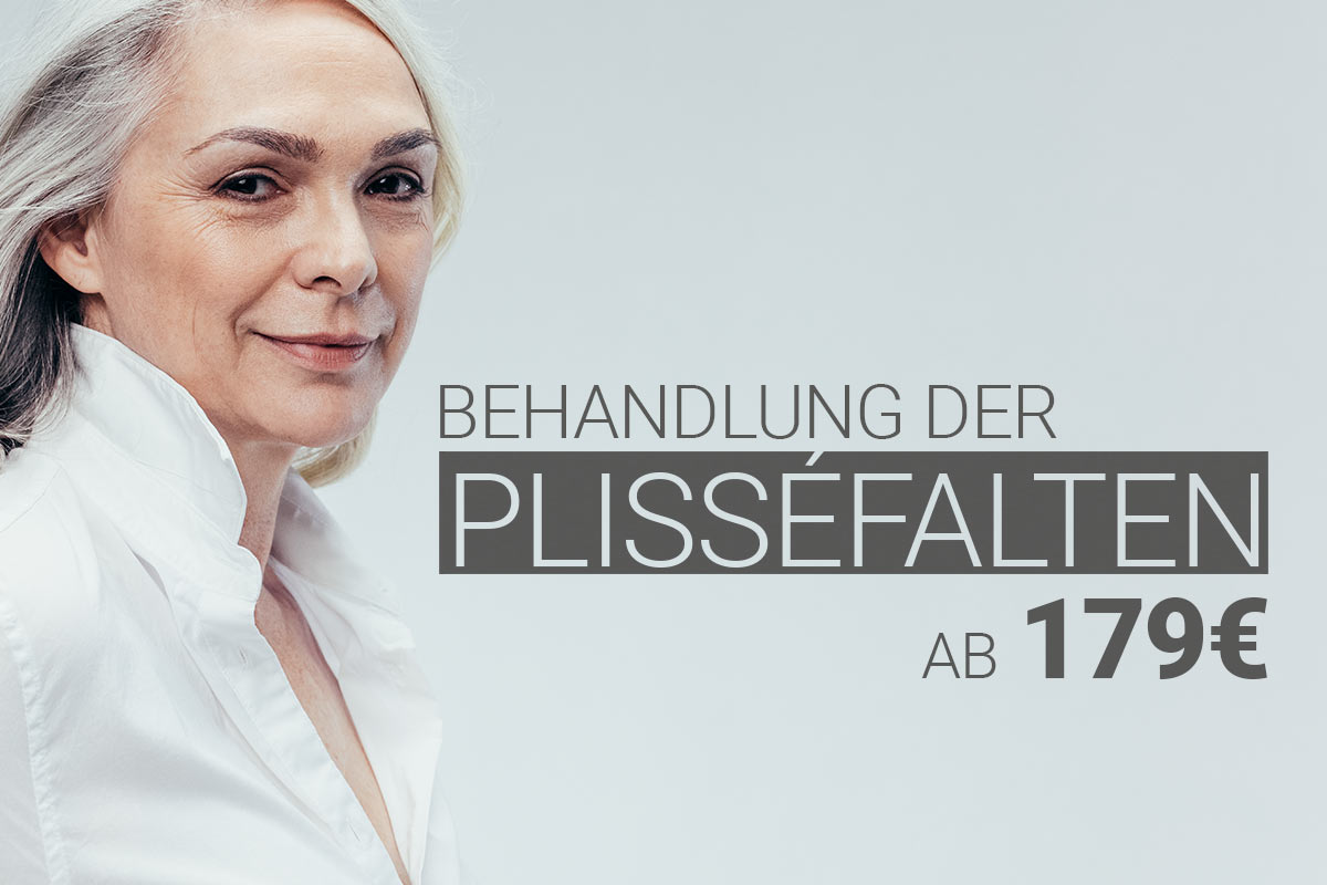 Plisséfaltenbehandlung mit Hyaluron bei M1 Med Beauty Austria