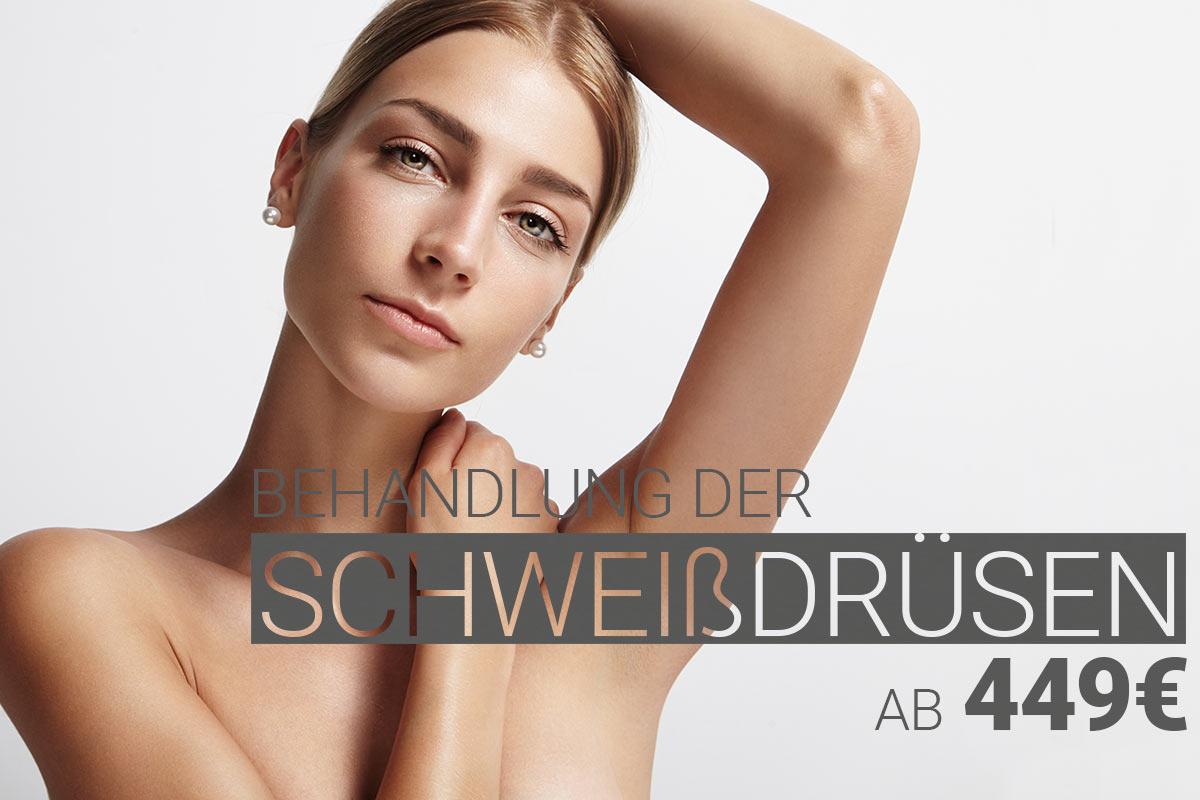 Schweißdrüsenbehandlung, Behandlung gegen Hyperhidrose bei M1 med Beauty