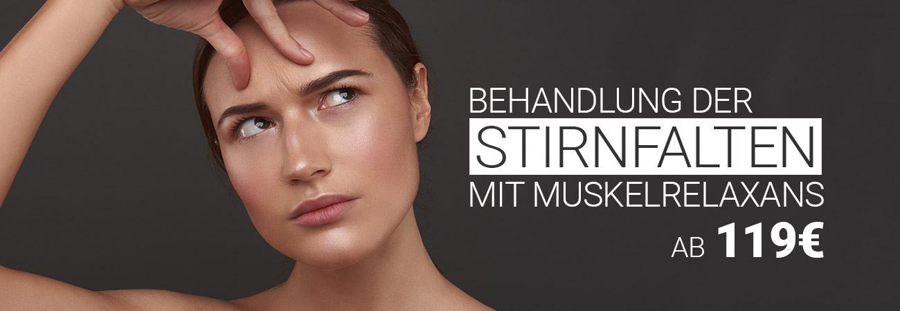 Stirnfaltenbehandlung mit Muskelrelaxans bei M1 Med Beauty Austria