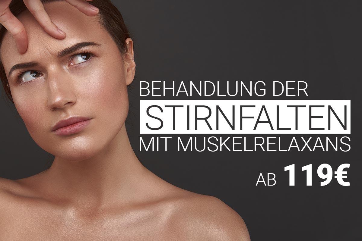 Stirnfaltenbehandlung mit Muskelrelaxans bei M1 Med Beauty