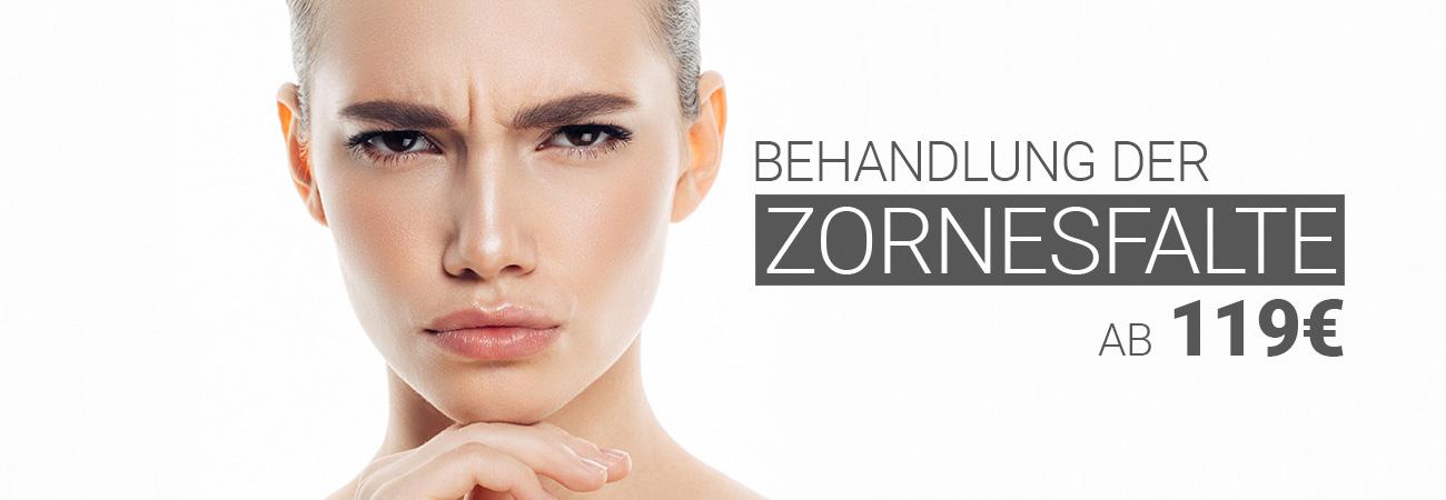 Behandlung der Zornesfalte mit Muskelrelaxans bei M1 Med Beauty Austria