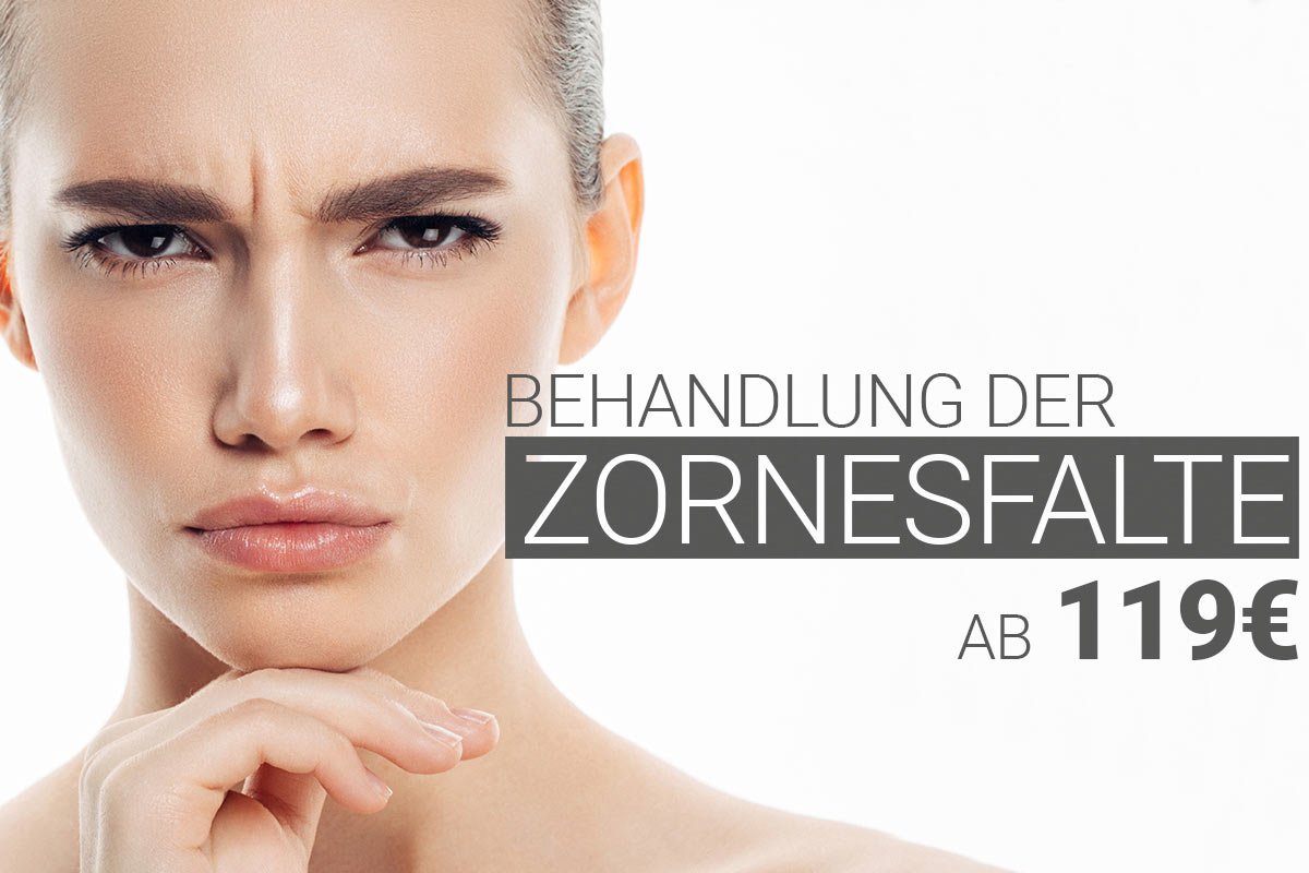 Behandlung der Zornesfalte mit Muskelrelaxans bei M1 Med Beauty