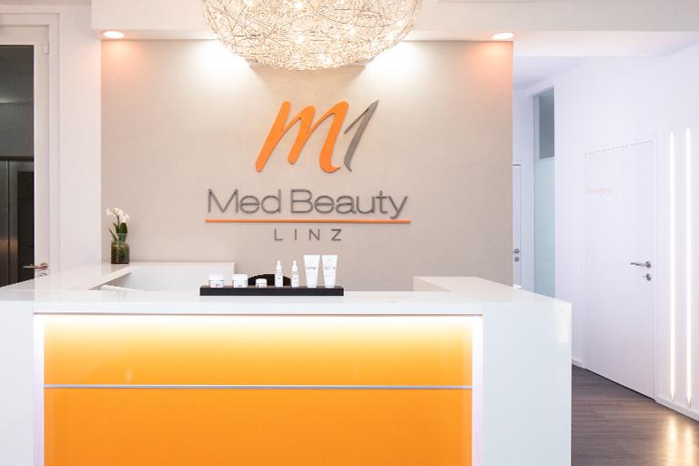M1 Med Beauty Linz_Empfangsbereich