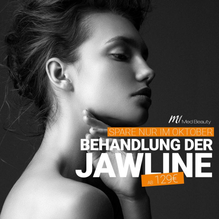 Nur im Oktober - Unterspritzung der Jawline ab 129€