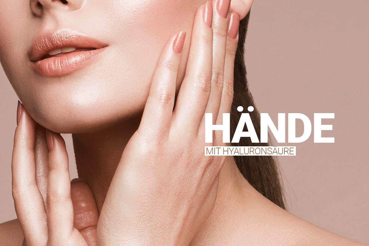 Behandlung der Hände mit Hyaluronsäure