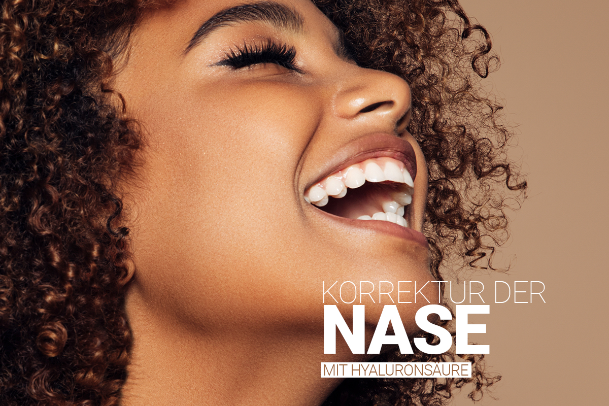 Nasenkorrektur ohne OP, Korrektur der Nase mit Hyaluronsäure bei M1 Med Beauty Austria