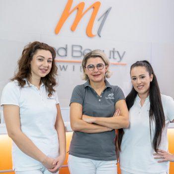 M1 Med Beauty Wien - Praxis Mitarbeiter und Dr. Plut